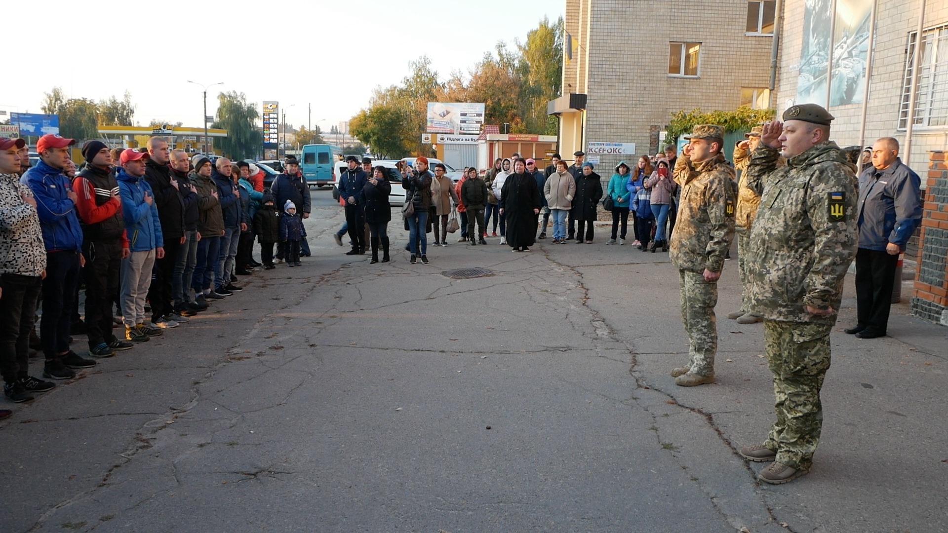 Осінній призов: у Білій Церкві відправили юнаків служити до війська - ЗСУ, Біла Церква - imgbig 1 2