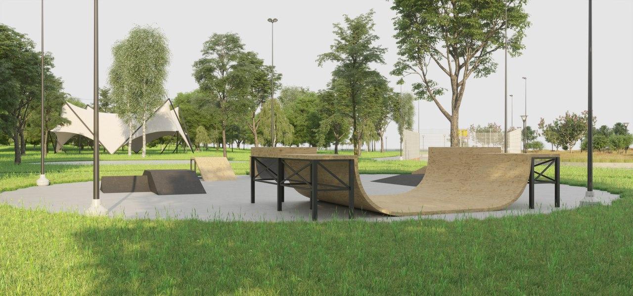 Територію біля озера Лебедине перетворять на фітнес-парк -  - park darnts3