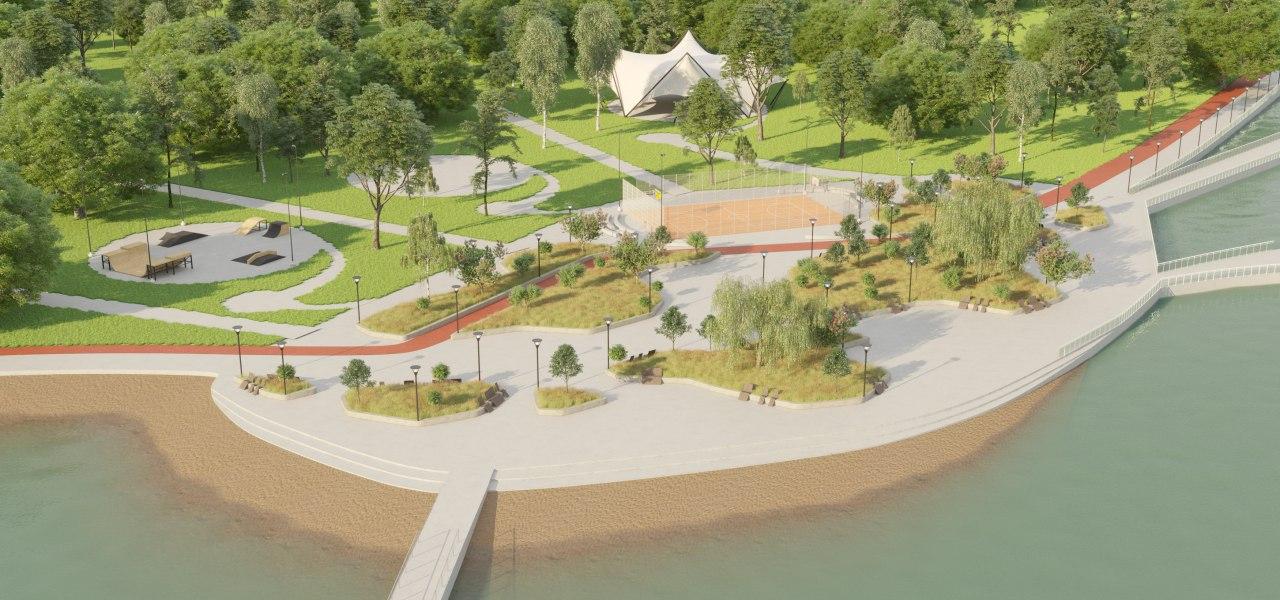 Територію біля озера Лебедине перетворять на фітнес-парк -  - park darnytskyj1