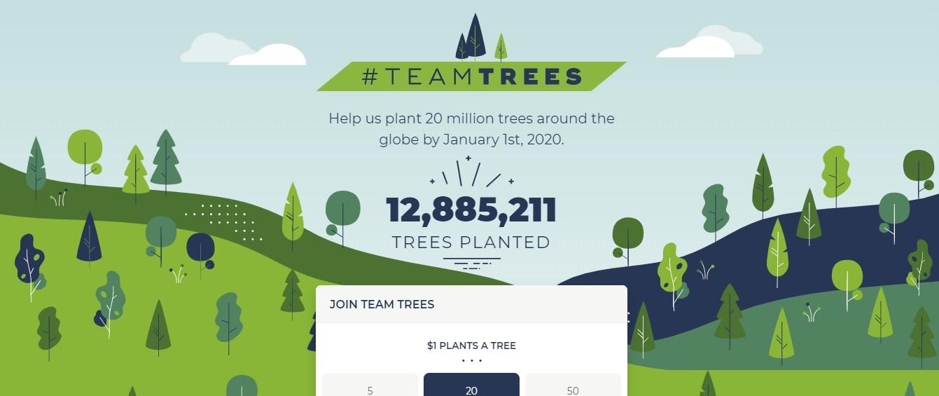 05_TeamTrees В YouTube запустили еко-акцію #TeamTrees, яка вже зібрала понад $12 000 000
