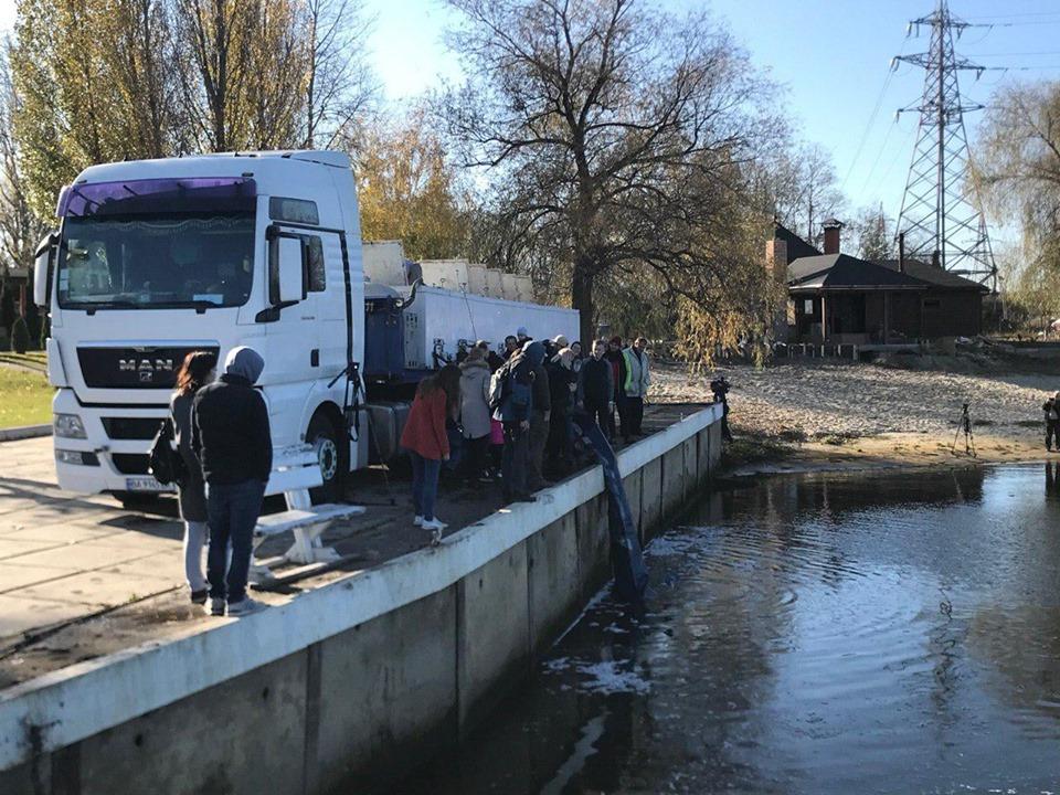До Канівського водосховища запущено майже 7 тонн риби - київщина, Київський рибоохоронний патруль, зариблення - 1106 RYba osn