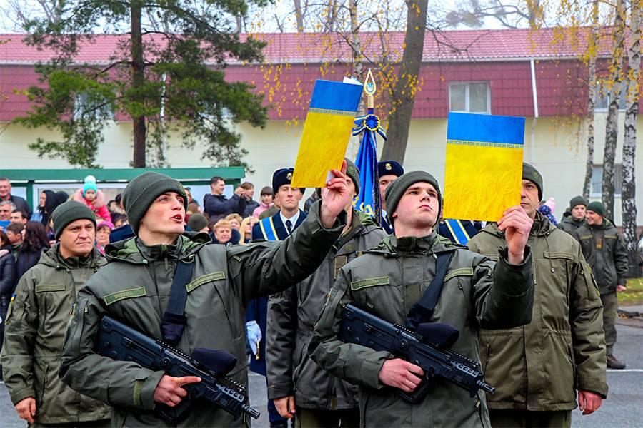 У Першій Президентській бригаді – бойове поповнення - присяга, Перша Президентська бригада, НГУ, київщина, Вишгород - 1109 Popovn1