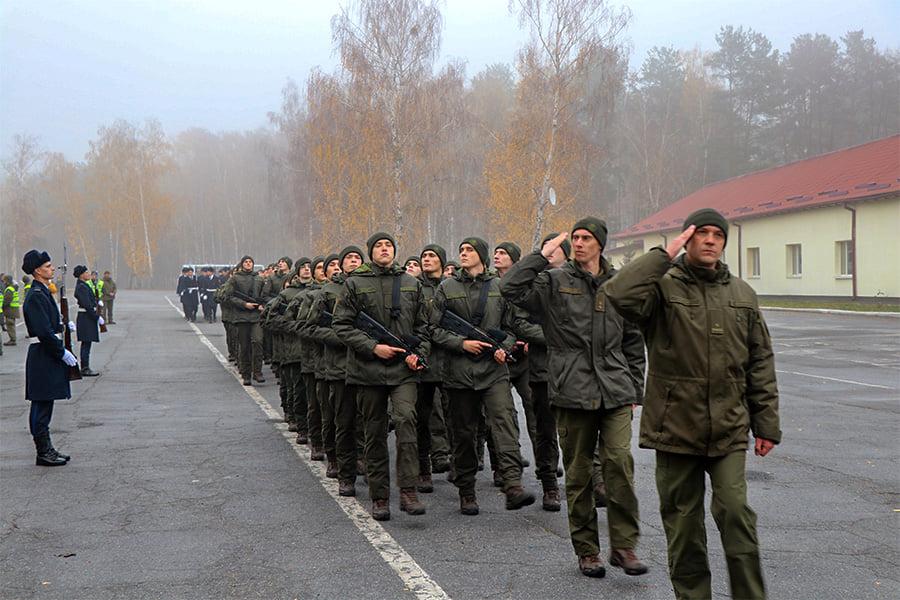 У Першій Президентській бригаді – бойове поповнення - присяга, Перша Президентська бригада, НГУ, київщина, Вишгород - 1109 Popovn3
