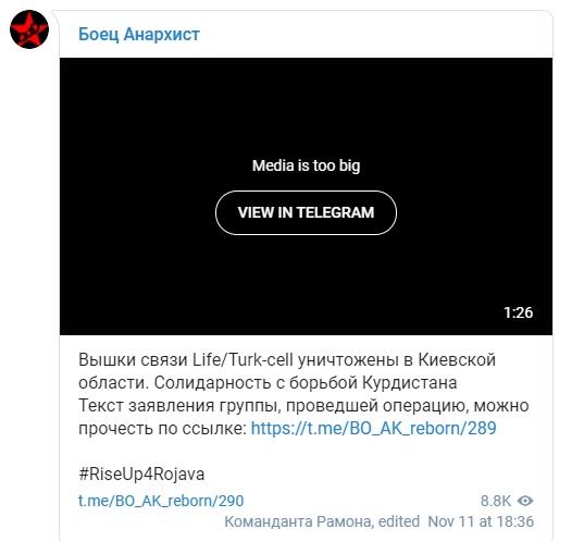 На Київщині радикали спопелили дві вишки турецького мобільного оператора - Туреччина - 14 vyshky2