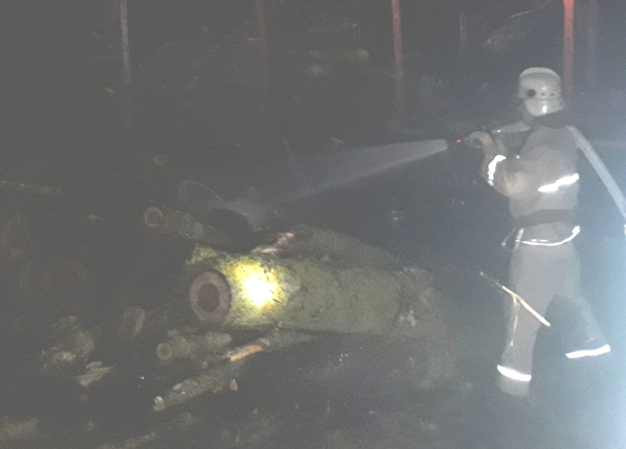 Володарський район: горіли дрова на кузові КАМАза -  - 20191107 211912 2000x1435