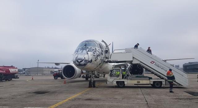 """У аеропорту """"Бориспіль"""" приземлився літак із лівреєю сніжного барса -  - 5dcd1894b9ff5"""