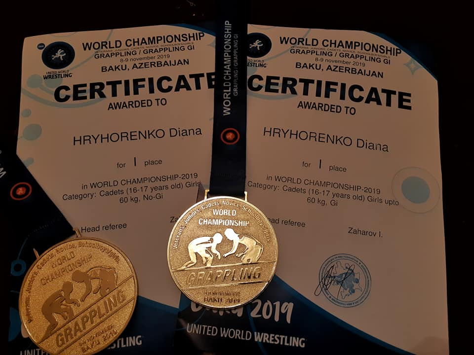 Вихованка Фастівщини Діана Григоренко виборола ще одне золото на чемпіонаті світу з греплінгу (ВІДЕО) - Чемпіонат світу, Фастівщина, греплінг - 69603939 2407620059481558 2568272610580234240 n