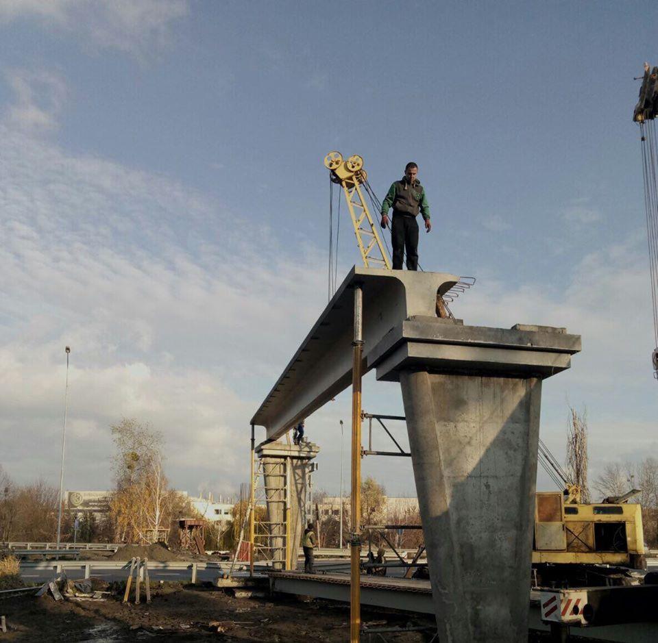 В Обухові будують новий наземний пішоходний міст -  - 74601271 799623627138343 7437342584399200256 o