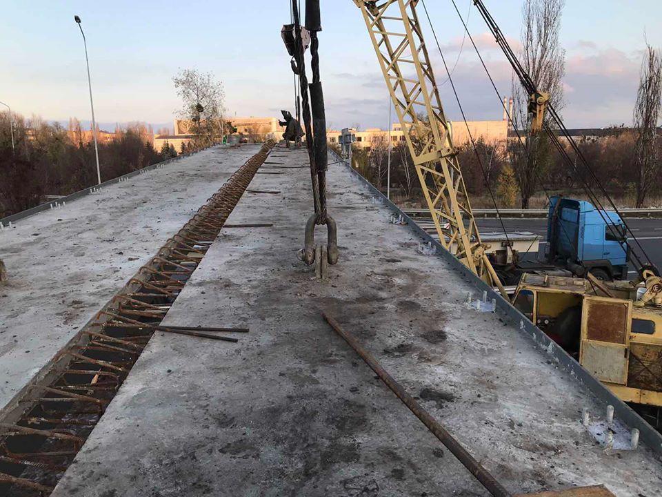 В Обухові будують новий наземний пішоходний міст -  - 75294187 799623467138359 4877639618985459712 o