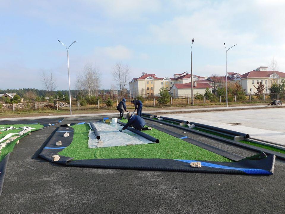 У Славутичі завершується будівництво багатофункціонального спортивного комплексу -  - 75474130 2546699335412964 3603899473161355264 o