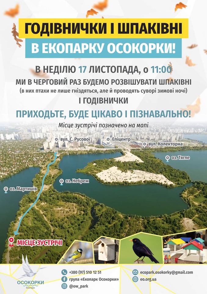 75580206_2435926836674210_2565754256506224640_o Врятуємо птахів: у Києві проведуть акцію з розвішування шпаківень і годівничок