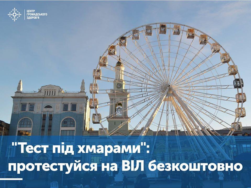 У Києві безкоштовно тестуватимуть на ВІЛ і роздаватимуть подарунки - тестування, тест, подарунки, ВІЛ - 77207629 1597837817007607 1322607257220808704 o