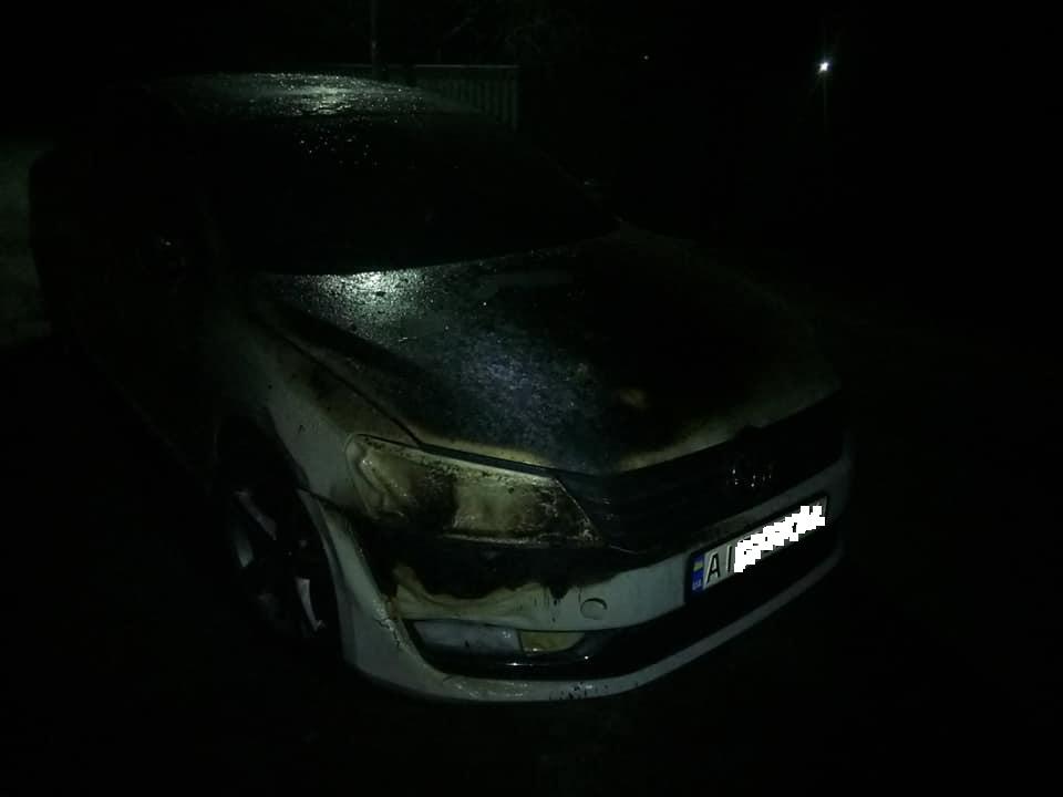 На Броварщині горів сарай та Volkswagen Passat -  - 78067507 1431828663634042 4794674770815746048 n