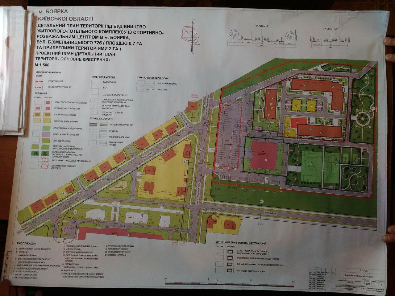 Boyarka-plan На захист парку: в Боярці влада планує пустити під висотну забудову частину зеленої зони