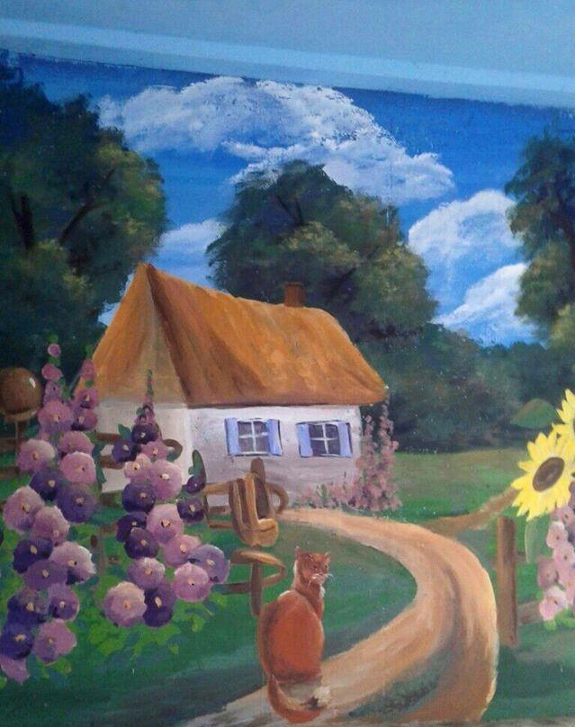 Фастівська художниця продовжує прикрашати автобусні зупинки у районі -  - Malopolo 2