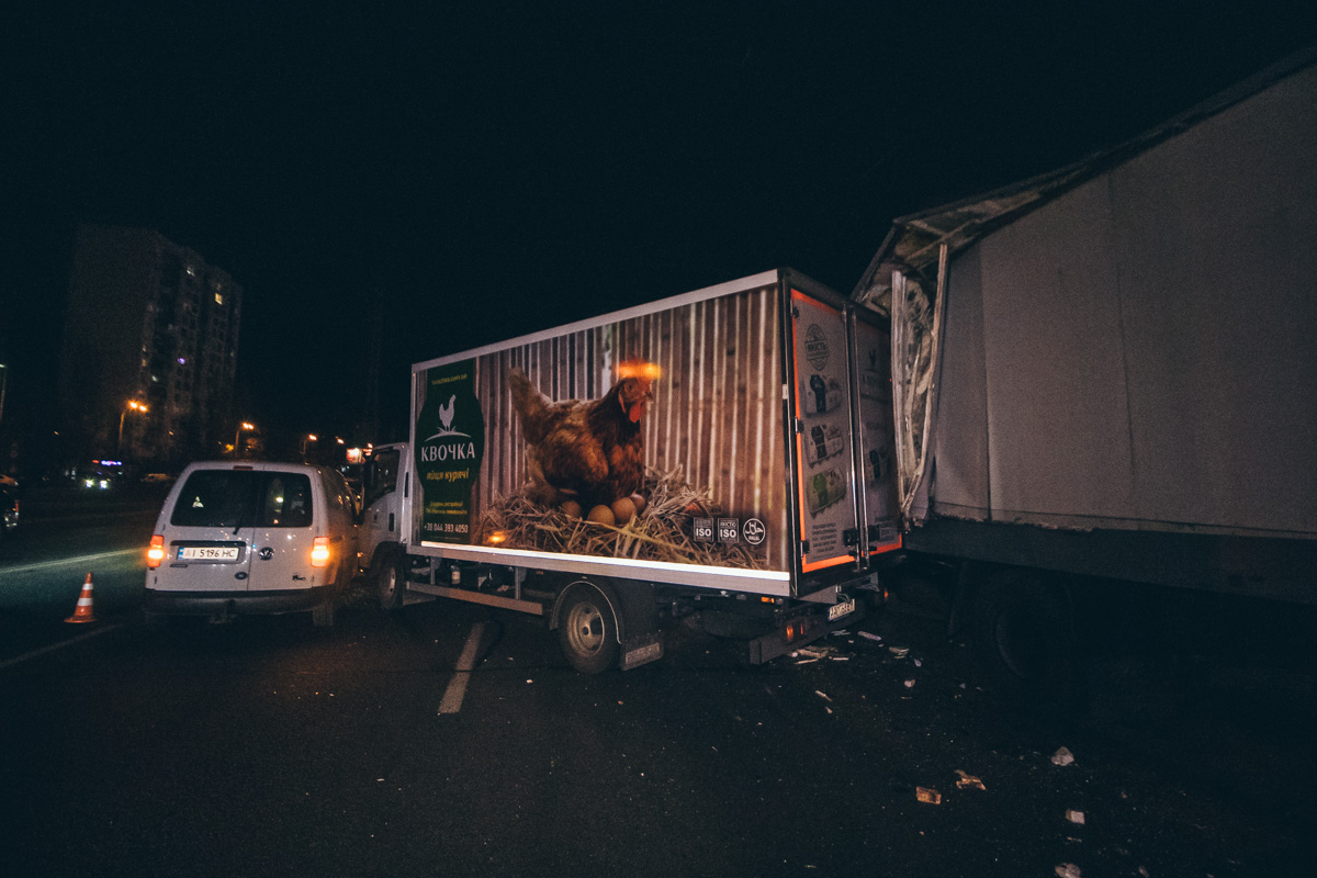 Через відмову гальм вантажівка протаранила 7 авто -  - dtp bratislavskaya 7