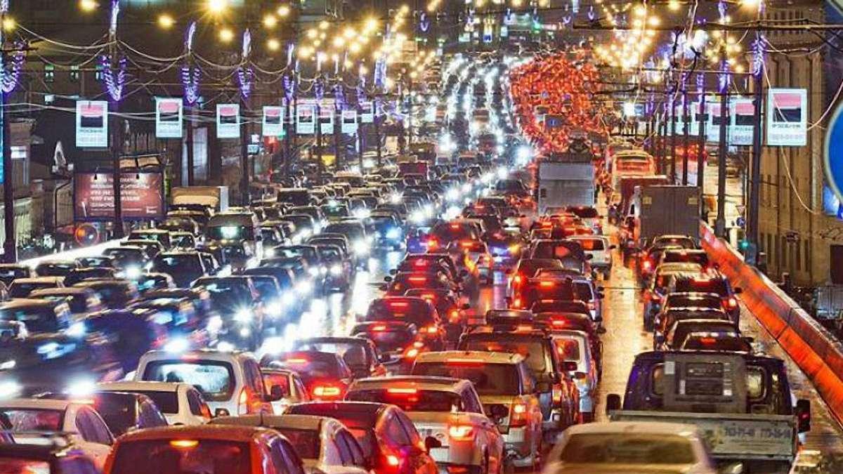 Інформація для водіїв: у Києві - величезні затори через численні ДТП (карта) - Київ, затори на дорогах - 1037288