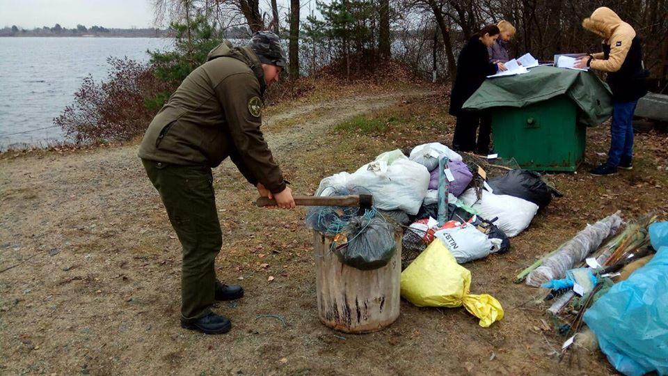 1213_ryba2 На Вишгородщині знищили рибальські знаряддя браконьєрів з усієї Київщини