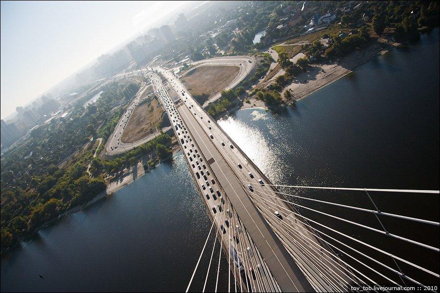 Автомобільний рух найвищим мостом України відкрили 29 років тому - Південний міст, київщина, Київавтодор, Київ - 1225 Pivd mist2