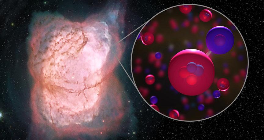 Вчені знайшли першу молекулу Всесвіту - Великий вибух - 24 molekula