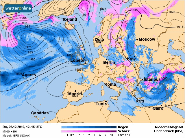 26 грудня синоптики обіцяють знижений атмосферний тиск, тумани, дощі та мокрий сніг - погода - 26 pogoda2