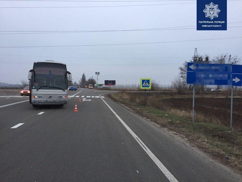 Бориспільщина: на трасі біля с. Старе автобус збив жінку -  - 79936943 1604844846355769 1442705494983573504 o