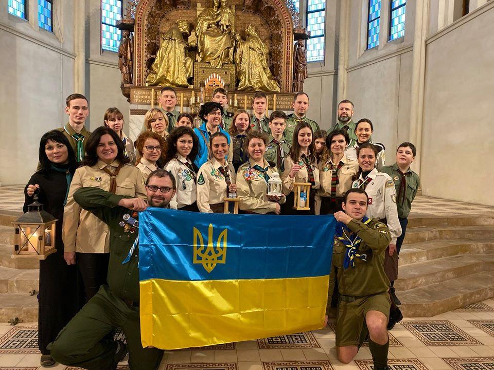Українські пластуни привезуть із Відня Віфлеємський вогонь миру -  - 80199119 10156773371362393 6406605889976926208 o