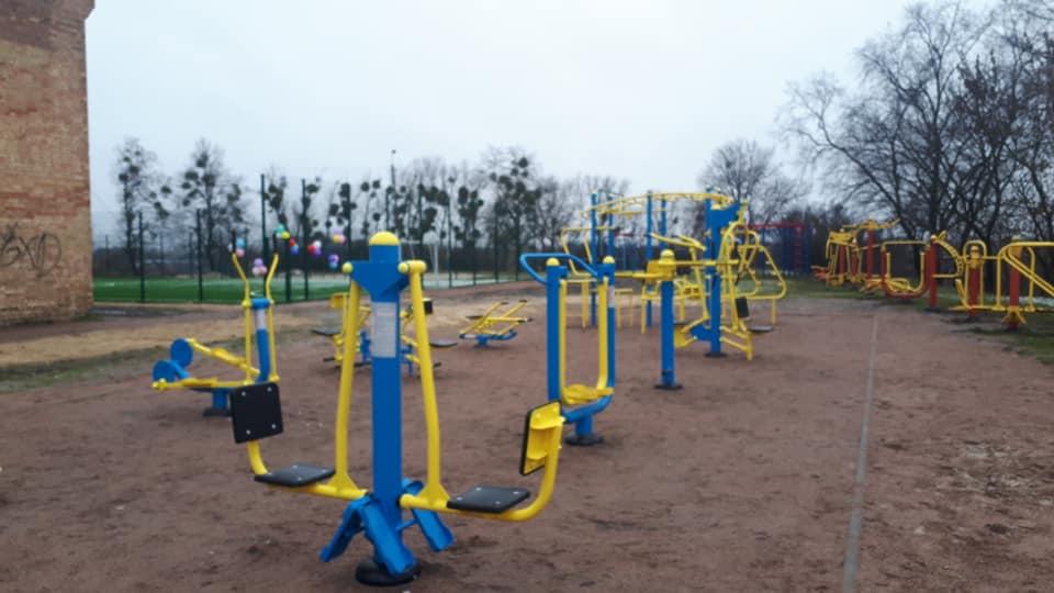 На Макарівщині відкрили міні-футбольне поле та спортмайданчик з тренажерами -  - 80999553 1407308656092555 328026976180764672 n