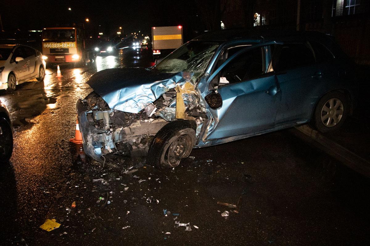 П'яна водійка легковика протаранила маршрутку -  - DTP 2 of 6