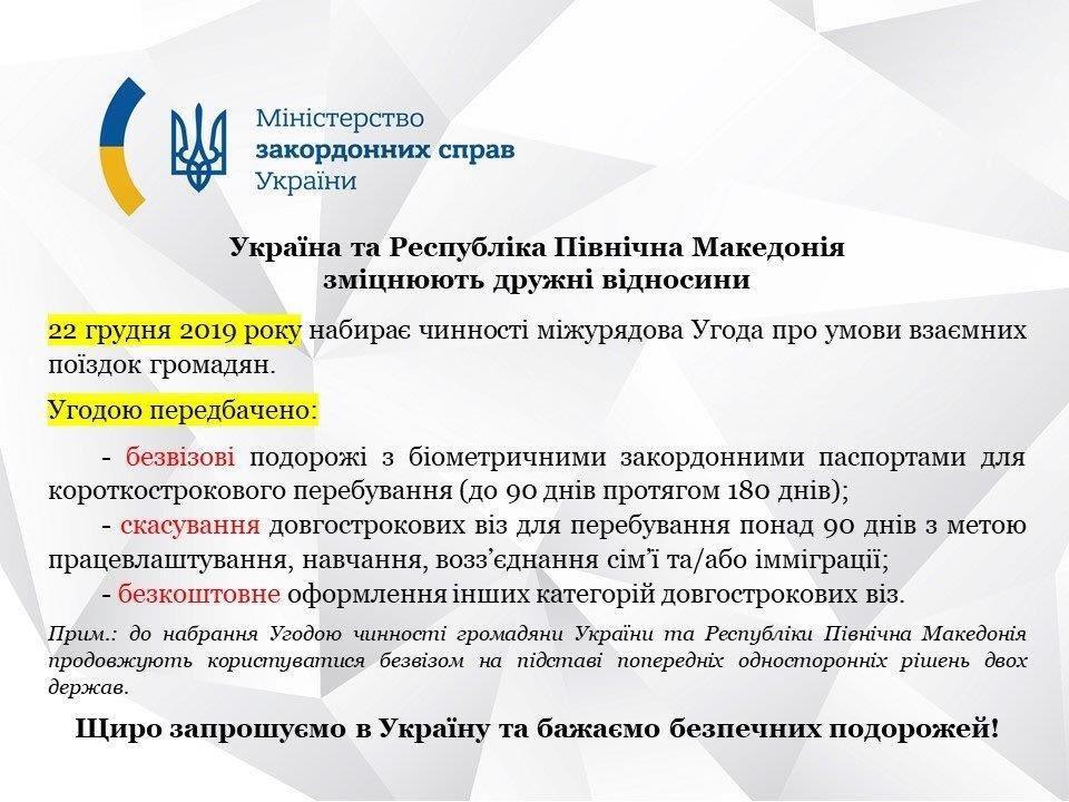 Українці тепер можуть їздити без візи до Північної Македонії - українці, Україна, туризм, співпраця, подорожі, віза, безвіз - EMAflLlWwAIdNy3