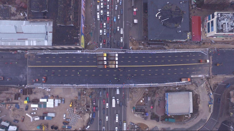 30-тонними МАЗами - по мосту: Шулявський шляхопровід випробували на міцність - Шулявський міст, Віталій Кличко - SHulyavskyj mist2