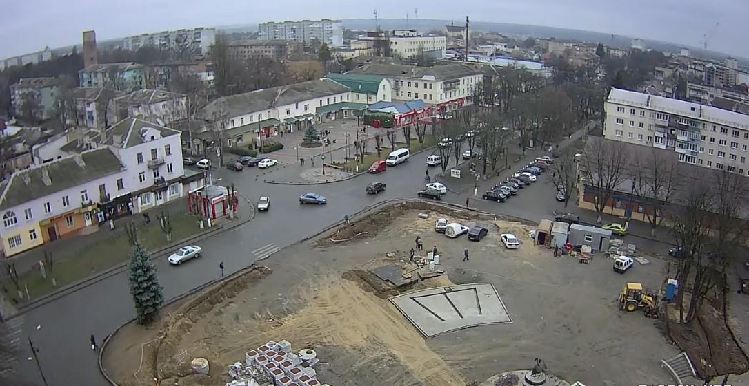 Реконструкція Соборної площі у Фастові: роботи продовжать навесні 2020 року - Фастів, Соборна площа, реконструкція - Veb kamery Fastova