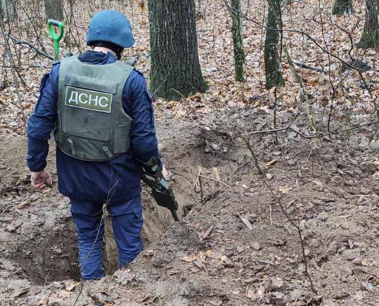 На Київщині знищено боєприпаси часів Другої світової війни -  - dcac21 V