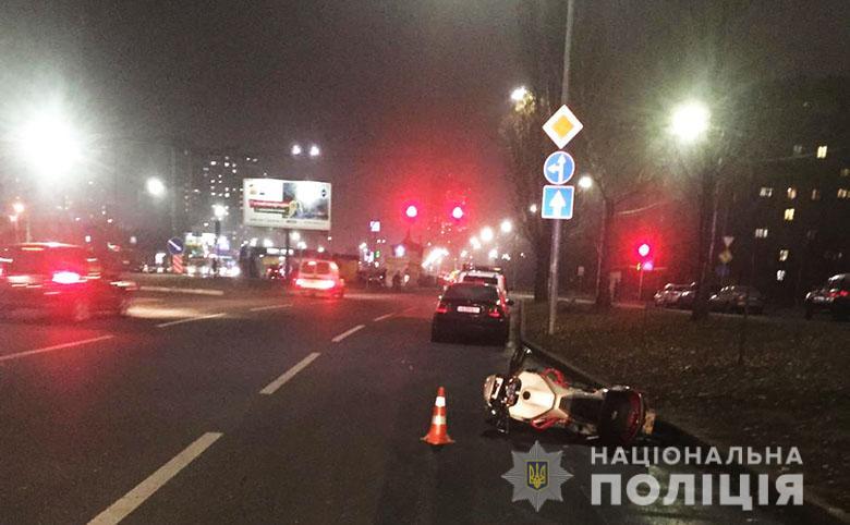 Подолати шість смуг: смертельна мото ДТП у Києві -  - dtp11121