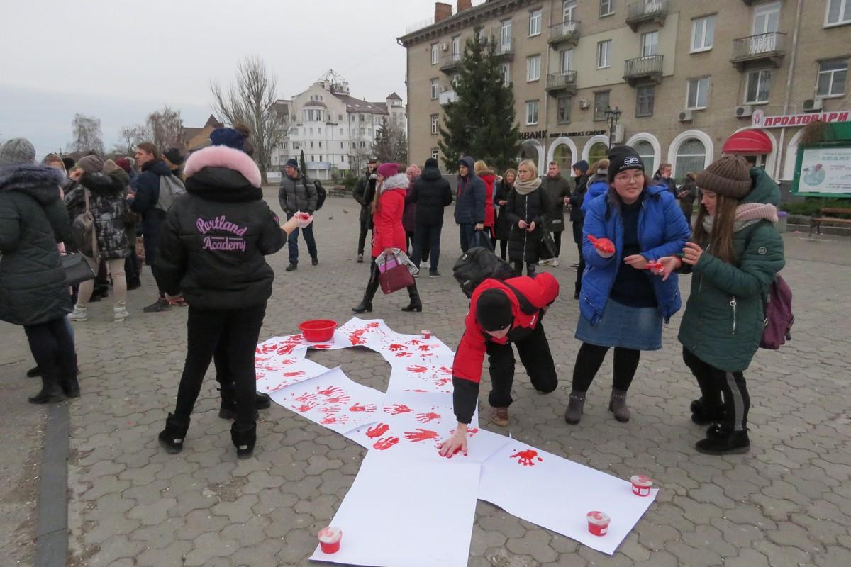 Стоп, СНІД! У Білій Церкві відбулась акція проти СНІДу - СНІД, Біла Церква, акція - imgbig 2