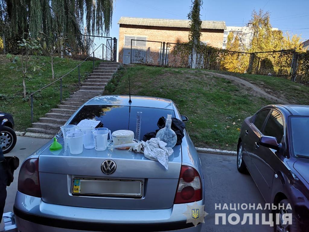 prekursorBTS2-1 У Білій Церкві затримали чоловіка з нарколабораторією у валізі