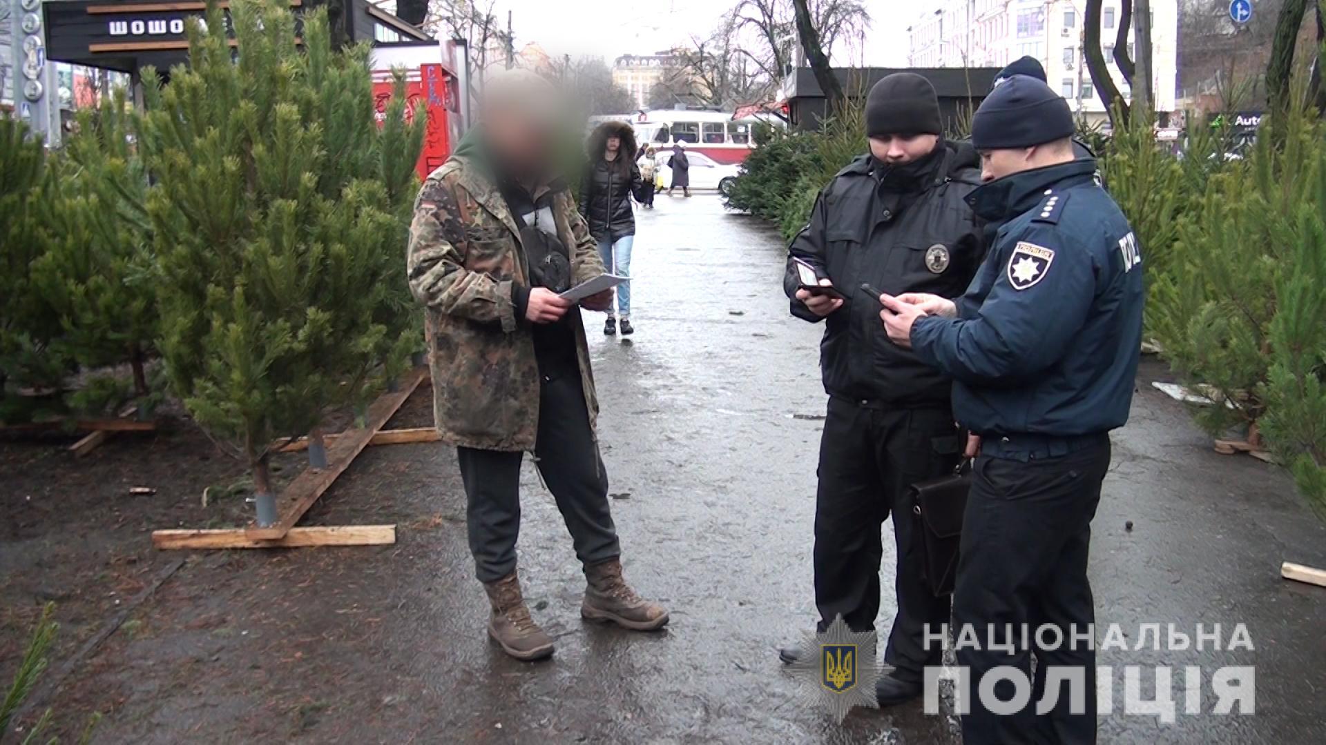 У столиці виявляють порушників щодо продажу ялинок у невстановлених місцях -  - reydyalinki281220193