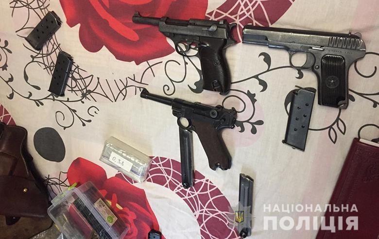 """""""Вальтер"""",""""Парабелум"""" і """"ТТ"""": у киянина  вилучили кілька зразків вогнепальної  зброї -  - zbroya031220192"""