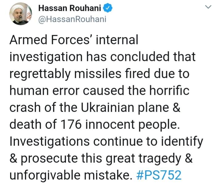 """Іран офіційно визнав, що збив український """"Боїнг"""" -  - 20200111 091750"""