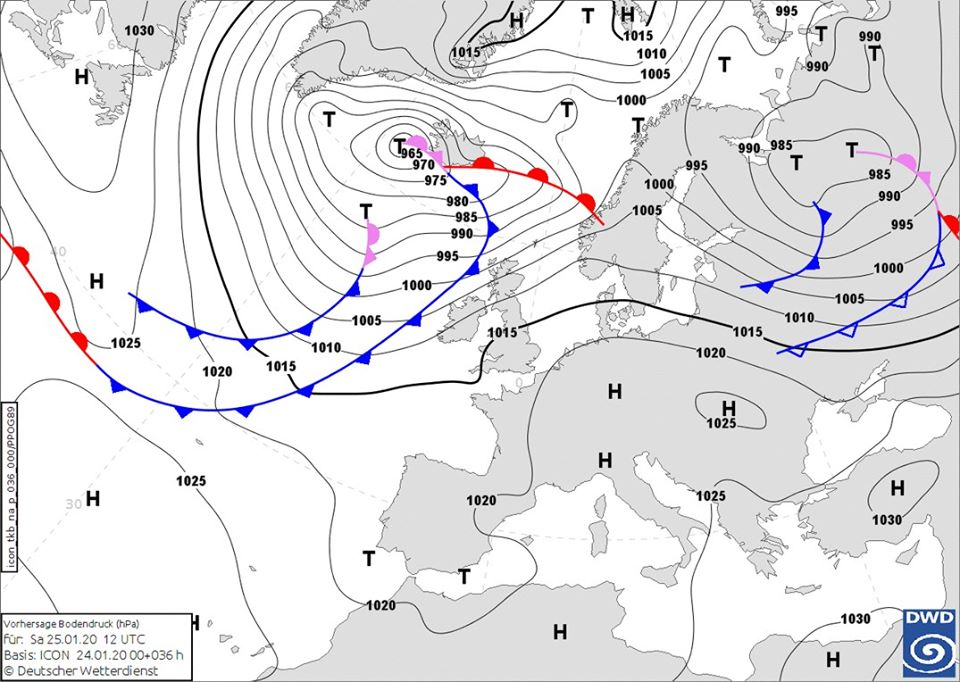 25_pogoda2 Україна опиниться між потужними циклоном та антициклоном: погода на вихідні на Київщині