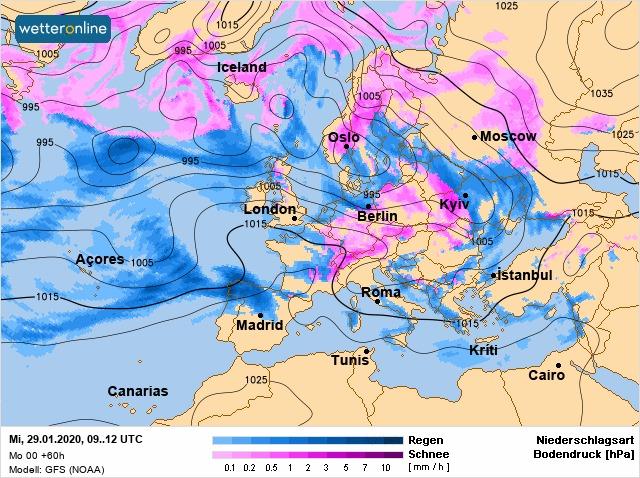 Погода на 28 січня на Київщині: без опадів і тепло - прогноз погоди, погода - 28 pogoda4