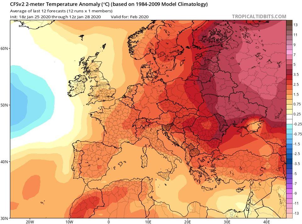 Довгостроковий прогноз на лютий: в Україні буде тепло - погода - 29 prognoz