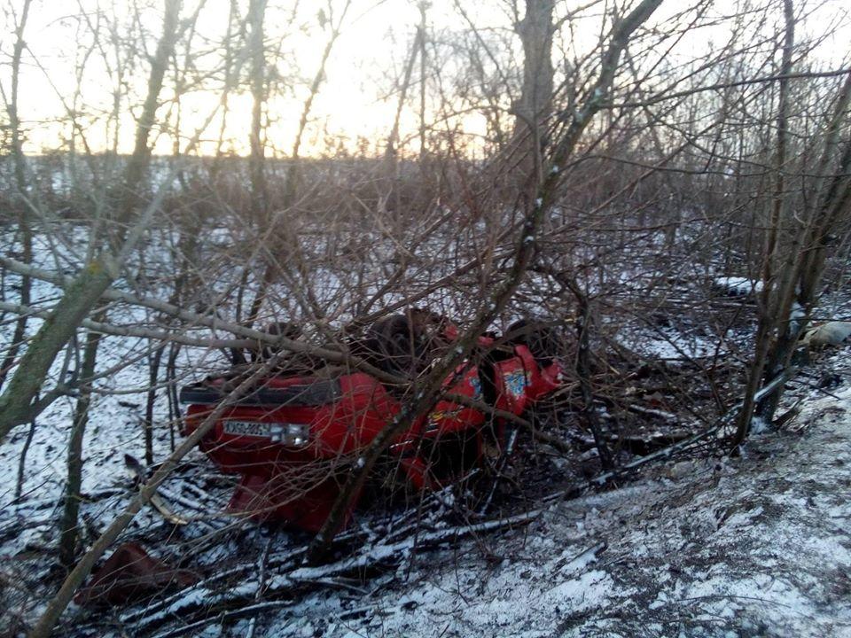 Під Борисполем легковик вщент розбився на слизькій дорозі -  - 82689534 2597151933892875 6906703828859486208 o
