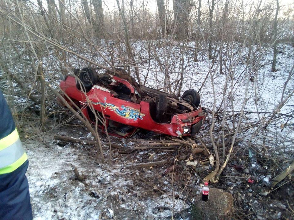 Під Борисполем легковик вщент розбився на слизькій дорозі -  - 82801070 2597151960559539 1282153926627426304 o