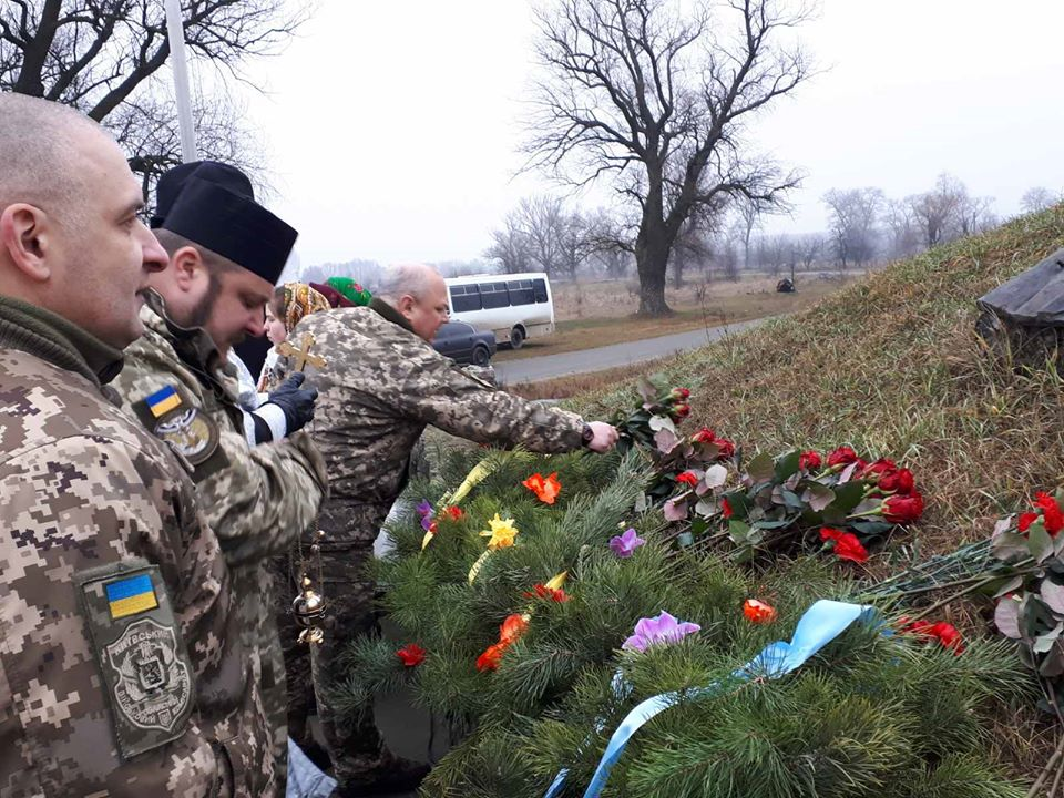У Літках на Броварщині вшанували загиблих у 1918 році військових студентів -  - 84707901 611834546046494 4979288433886232576 o
