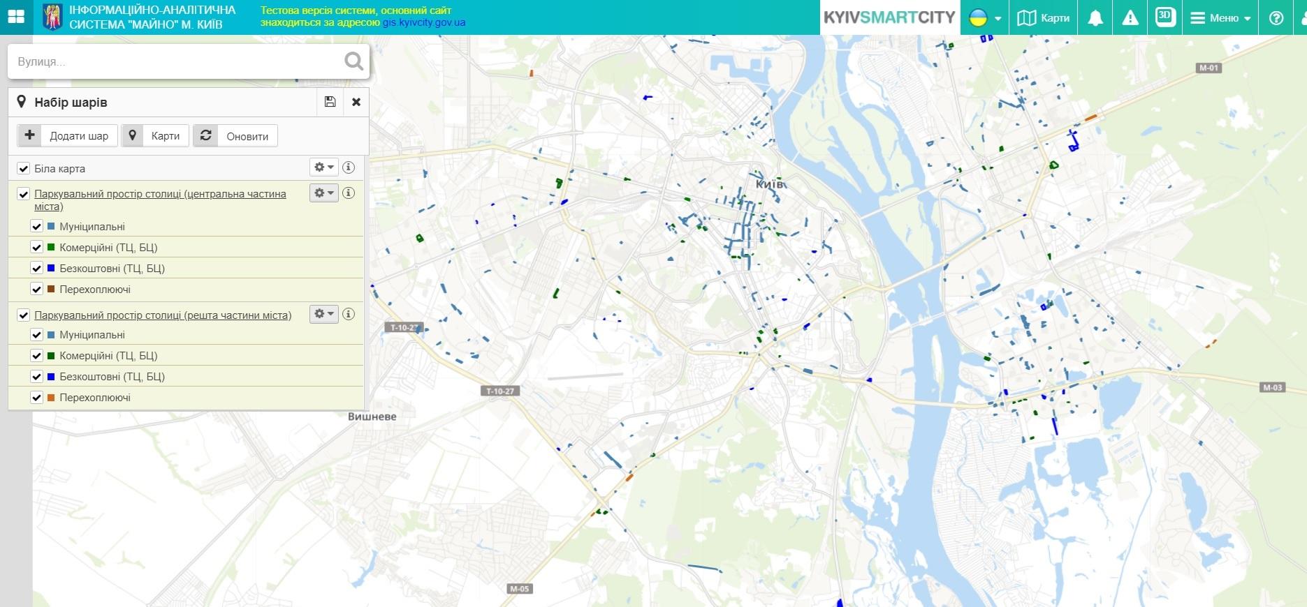 Mapa Більше 100 за добу: у Києві зросла кількість евакуйованих на штрафмайданчики авто
