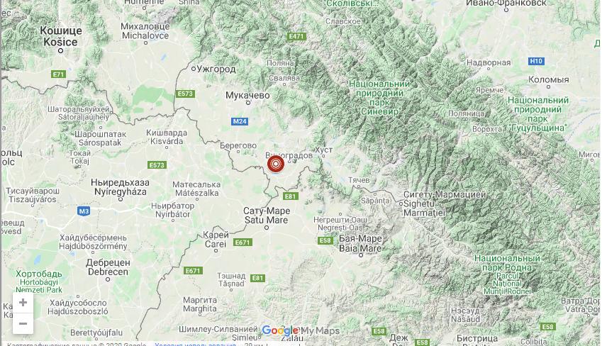 На Закарпатті стався землетрус -  - Screenshot 1 13