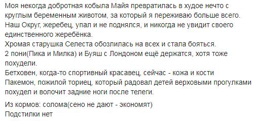 """Коні не винні: на Обухівщині колишній заміський комплекс перетворився на """"тваринний концтабір"""" -  - Screenshot 7"""