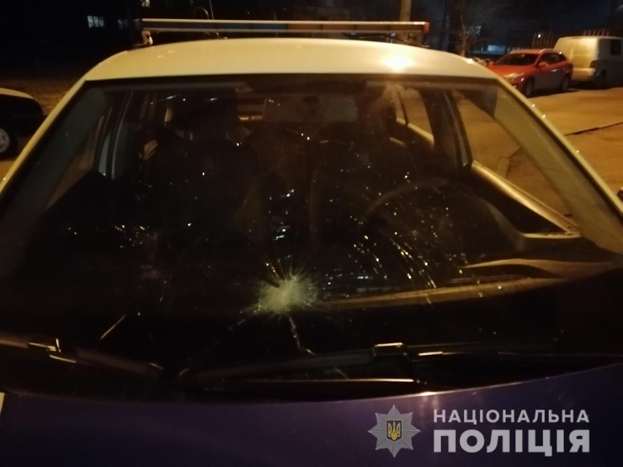 У Білій Церкві хуліган розбив скло патрульного авто -  - WhatsApp Image 2020 01 08 at 09.48.13