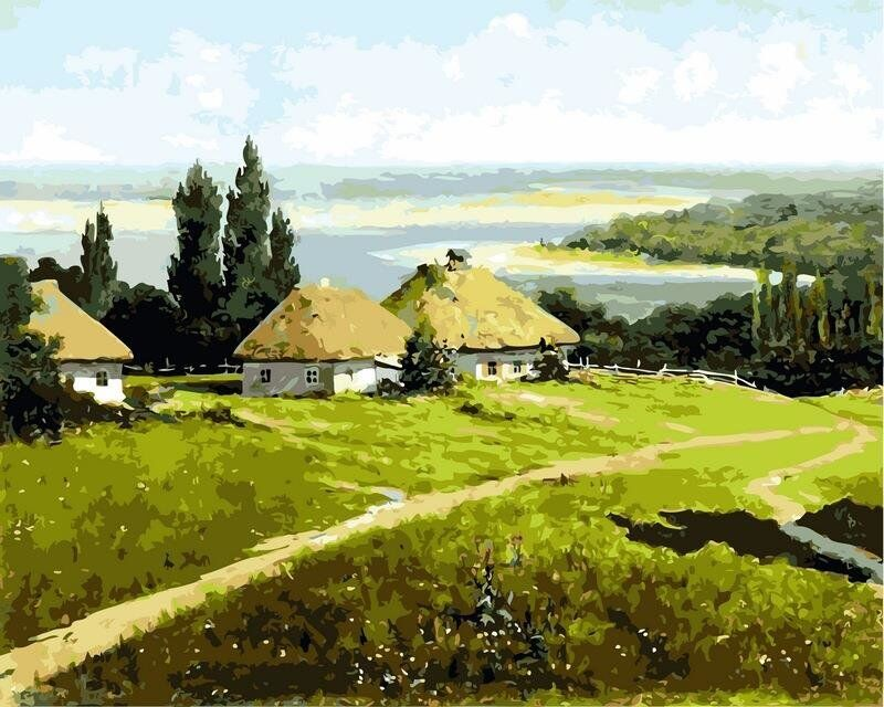 В Національному художньому музеї України відбудеться лекція присвячена українському пейзажу 19 століття -  - kartiny po nomeram ukrainskiy peyzazh s khatami 11299522117662